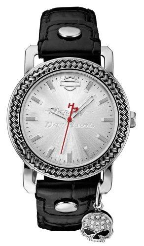 Harley-Davidson Women's Willie G. Charm Wrist Watch 76L173