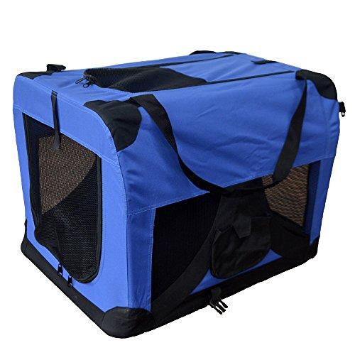 Transportín plegable para perros - Transportín de tela plegable - Caseta de perros portátil - Transporta mascotas para coches - Bolsa de transporte - Corralito para mascotas 401-D01