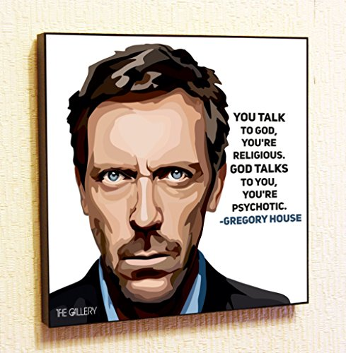 [Gregory House M. D Cinema Artist Actor Decor Motivational Quotes Wall Decals Pop Art Gifts Portrait Framed Famous Paintings on Acrylic Canvas Poster Prints Artwork Geek Decor] (Ninja Turtle Face Painting)