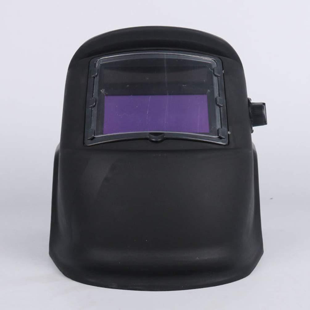 Yijinstyle Casco de Soldadura Solar con Visi/ón Amplia Careta Soldar de Oscurecimiento Autom/ático Mascarilla Protectora Ajustable Negro, One Size