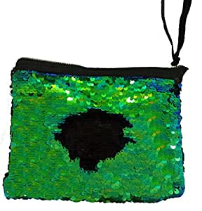 Sequin Makeup Bag Reversible Cosmetic Bag, Winmany Fashion Women Handbag Bling Glitter Evening Party Bag,Sparkling Shiny Clutch Handbag Wedding Bag Purse Wallet Pouch
