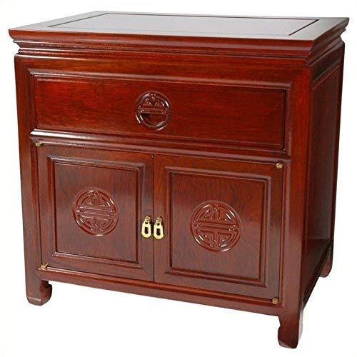 Amazon Com Oriental Furniture Rosewood Bedside Cabinet Cherry