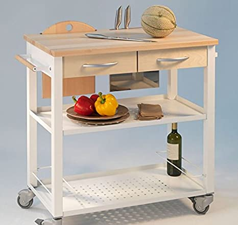pezzani speedy italia carrello da cucina mod chef legno naturale e struttura acciaio verniciato