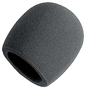 On Stage Foam Ball-Type Mic Windscreen, Black