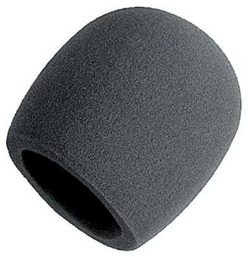 Sennheiser Windscreen (On Stage Foam Ball-Type Mic Windscreen, Black)