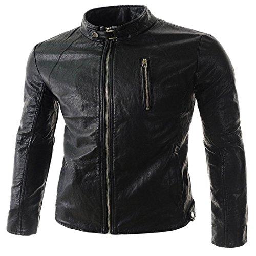 Small hombres m cuero Fashion de Chaquetas black PJK para qxAHXcI