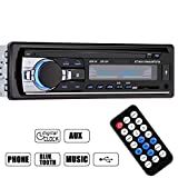 GHB Bluetooth Car Audio Stereo 1 DIN In Dash 12V FM Receiver with MP3 Radio Player and Support USB SD Input AUX Receiver Include Remote Control