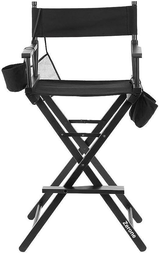 Silla de director plegable, artista de maquillaje plegable silla ...