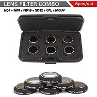6 Packs for DJI Mavic Pro Lens Filter Kit ND4 ND8 ND16 ND32 MCUV CPL, Multi-coated Filter Set TIME4DEAL.
