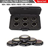 quad lense filter - RC Quadcopter Camera Lens Filter Set For DJI MAVIC Pro Multi-Layer Coating Films ND Dimmer CPL Polarizer MCUV Lens Filter 6 Packs(ND4+ND8+ND16+ND32+CPL+MCUV)- CreaTion