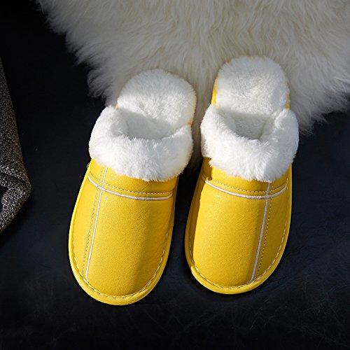 Laxba 41 Chaussons42 Indossare 43 Inverno Scivolare 42 Morbido Scarpe Pantofole Inverno Da Caldo Camera adatto Gialla Caldo rTvArZ