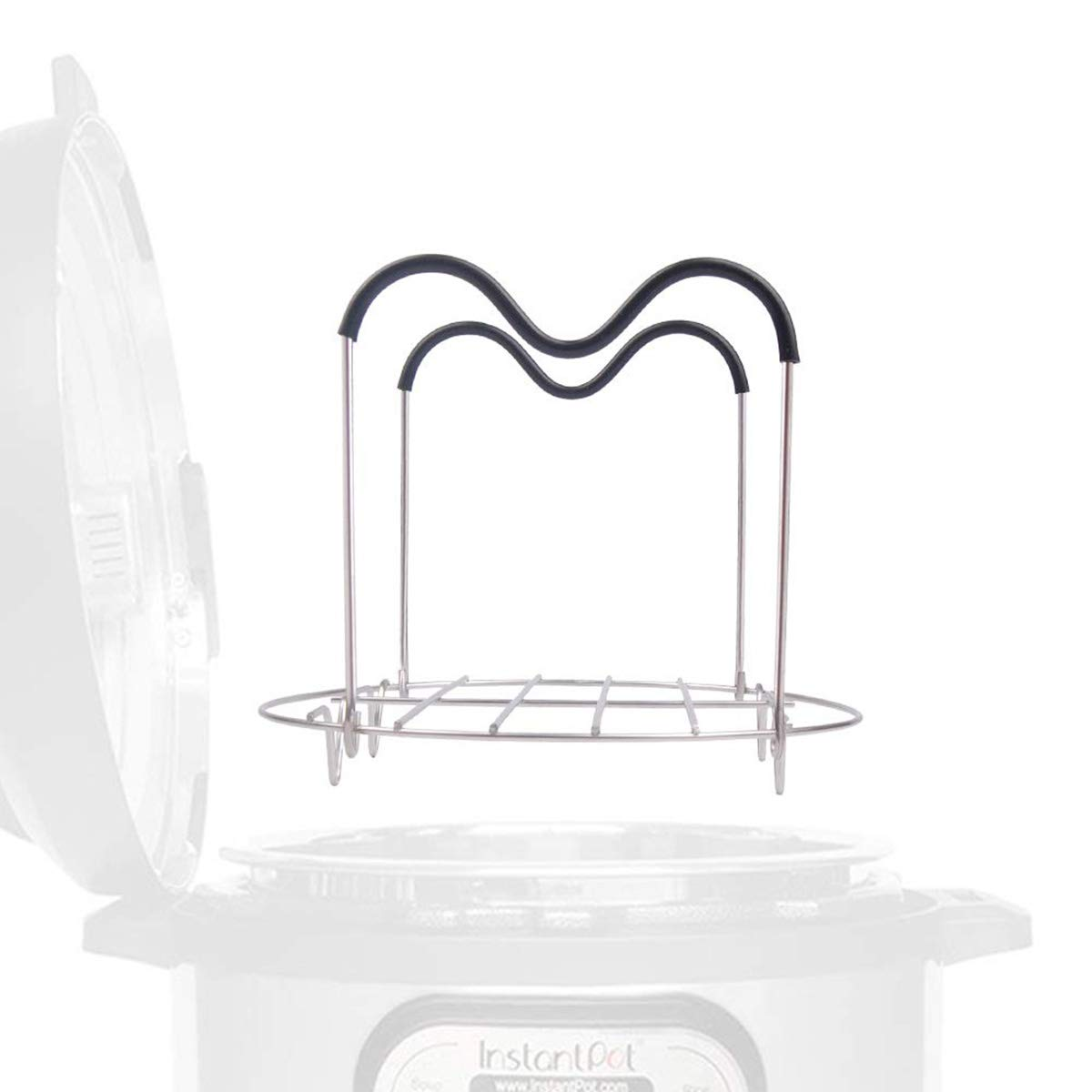 Steamer Rack Trivet with Handles for Instant Pot 6 QT 8 QT and other Electric Pressure Cookers Instant Pot accessories