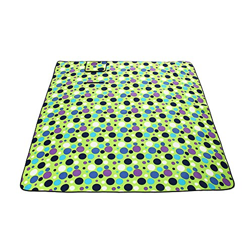 Ezyoutdoor 78x78 inch Waterproof Foldable Picnic Blanket Camping Blanket Water Resistant Picnic Blanket Portable Beach Blanket for Outdoor Beach Camping Hiking Travelling (Green - Conway Usa North