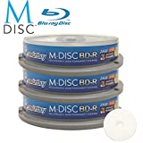 30 Pack Smartbuy M-Disc BD-R 25GB 4X HD White Inkjet Printable 1000 Year Permanent Data Archival / Backup Blank Media Recordable Disc