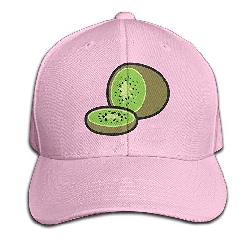 Cartoon Fresh Fruit Kiwi Snapback Sandwich Baseball Unisex Hat Pink