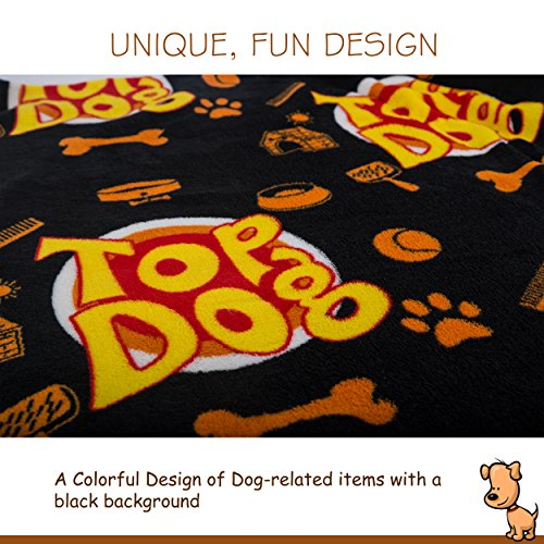 Deluxe Dog Blanket, 39x59'', Large, Super Soft Fleece, ''Top Dog'' Design, Machine-Washable, Perfect Gift for Dogs & Dog Lovers by Best of Breed Pet Care (Image #6)