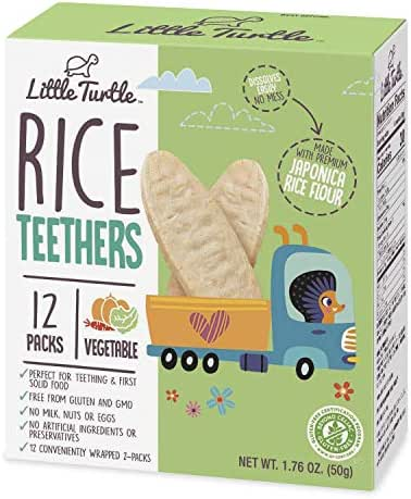 Baby & Toddler Snacks: Little Turtle Rice Teethers