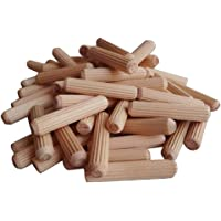 Baosity 100Pcs/Set Wooden Dowels Hard Wood Grooved Plugs Furniture Woodwork Grooved Fluted Pin Craft 6mm 8mm 10mm…