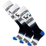 Pure Athlete Warm Ski Socks - Sweater Deer Sock for Skiing - Merino...