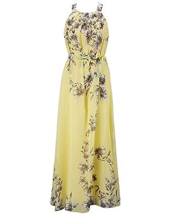 Kleider lang gelb
