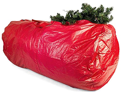 (Extra Large Christmas Tree Bag - Artificial Tree Storage and Christmas Decorations Storage Organizer for 7.5ft to 9ft Trees, Wreaths, Lights, Decorations and Garland)