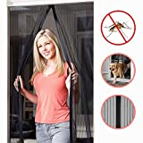 OMorc Magnetic Screen Door, Heavy Duty Mesh Curtain with Full Frame Velcro, Fits Door Openings up to 34