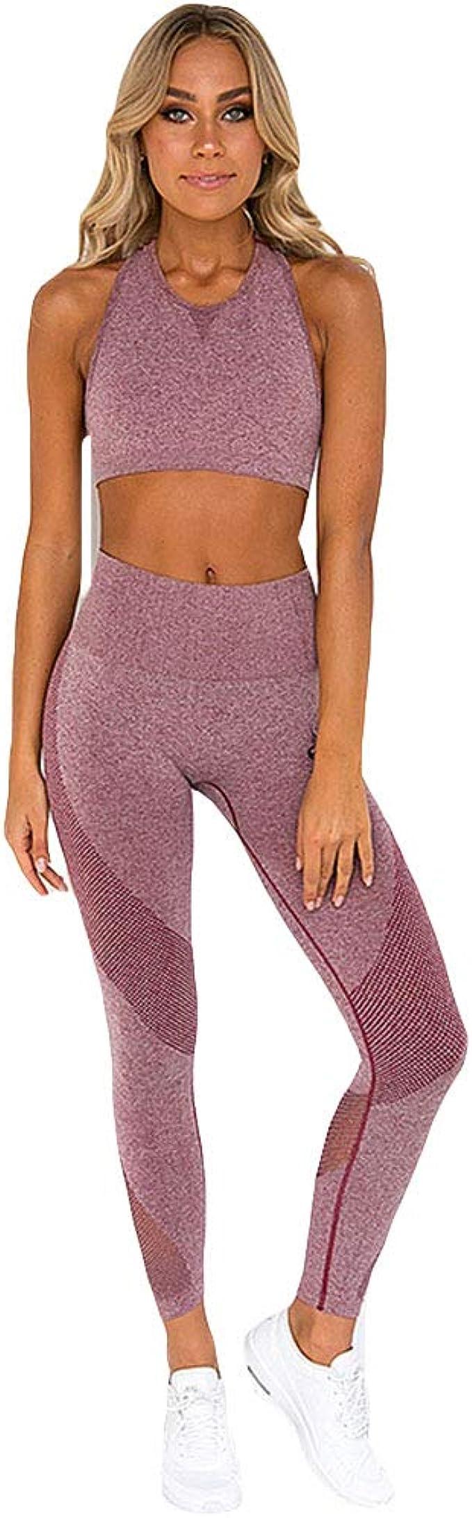 Amazon.com: Hotexy - Juego de 2 leggings de yoga de cintura ...