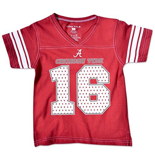 NCAA Alabama Crimson Tide Toddler Football Tee, 4 Toddler, Cardinal