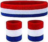 Favofit Headbands/Wristbands for Women Men Girls Boys for Gym Workout & Yoga, Super Comfy Sports Sweatband