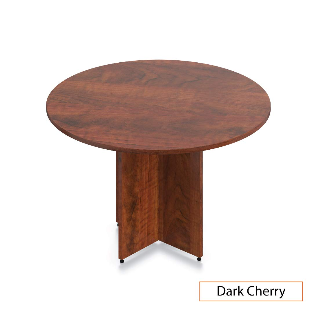 GOF 48'' Round Table (48W x 48D x 29.5H), Cherry, Espresso, Mahogany, Walnut (Dark Cherry)