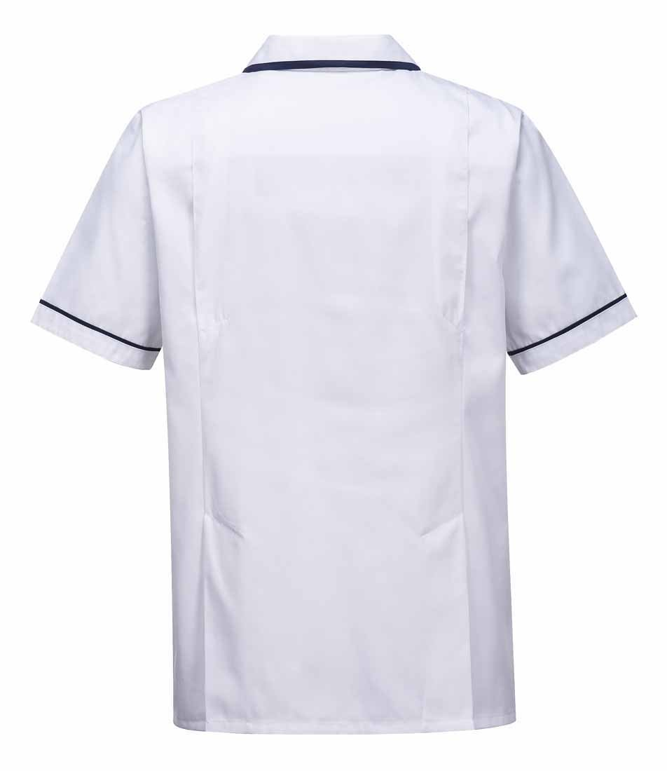 Large Portwest C820WHRL Mens Health Tunic White
