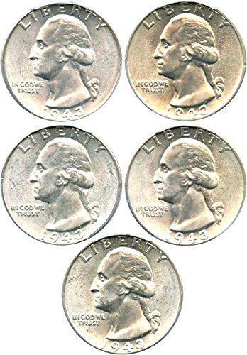 1943 P Washington Quarters (1932-98) MS65