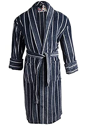 Mens Threadneedle 100% Egyptian Cotton Plush Shawl Collar Luxury Bathrobe