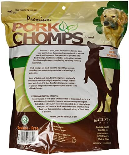 Premium Pork Chomps Baked Knotz Pork, 6-7 , 12 Count