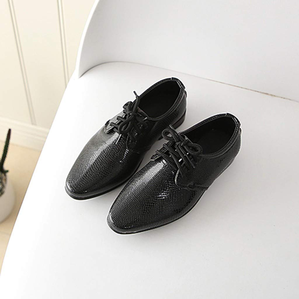 LILIGOD Freizeitschuhe Jungen Kinder Britischer Stil Lederschuhe Studenten Schuhe Leistung Slip-On Einzelne Schuhe Mode Wild Outdoor-Schuhe L/ässige Anzugschuhe Party Schuhe