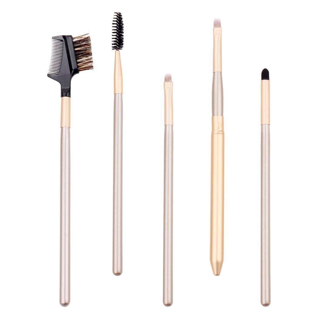 f70d8708eae0 Amazon.com: Eye Makeup Brushes Kit Huphoon 5PCS Professional Wooden ...