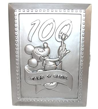 Amazon.com: Disney 100 Years Magic Mickey Painting Pewter Picture ...