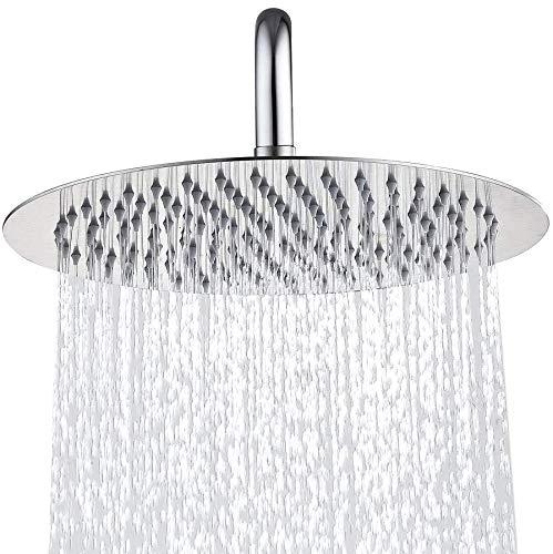 Colomore Rain Sprayer Stainless Steel – New 2019 Pressure 10 in Rainfall Bathroom Powerful Spray Shower Heads – Best High Flow Fixed Luxury Chrome SPA Showerhead with Adjustable Metal Swivel Ball