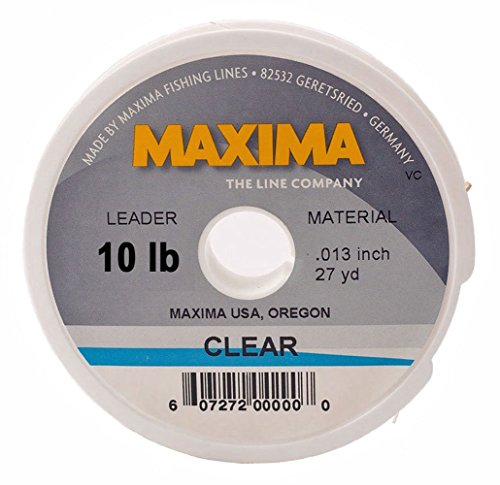 Maxima Leader - Maxima Fishing Line Leader Wheel, Clear, 10-Pound, 27-Yard