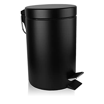 Amazoncom Hlux Mini Round Trash Can With Soft Close Lid Anti