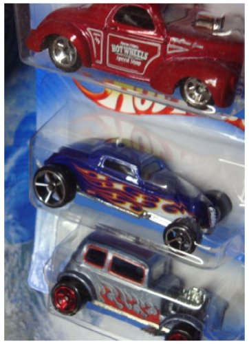 Hot Wheels Diecast '32 Ford Vicky - '41 Willys Coupe - Sooo Fast 1/64 -
