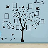 Large Family Tree Wall Decals,W78.7'' x L78.7'' Removable DIY Photo Gallery Frames Home Decor Vinyl Art Livingroom Decor by Delma ?