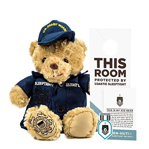ZZZ Bears Coastie Sleeptight Army Teddy Bear - Military Plush Toy, Four Step Sleep System to Help with Bedtime (Coast Guard Uniform)