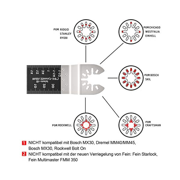28-Pezzi-Lame-Utensile-Multifunzione-per-Sega-Oscillanti-Accessori-Lame-Set-per-Legno-Universale-per-Dewalt-Makita-Bosch
