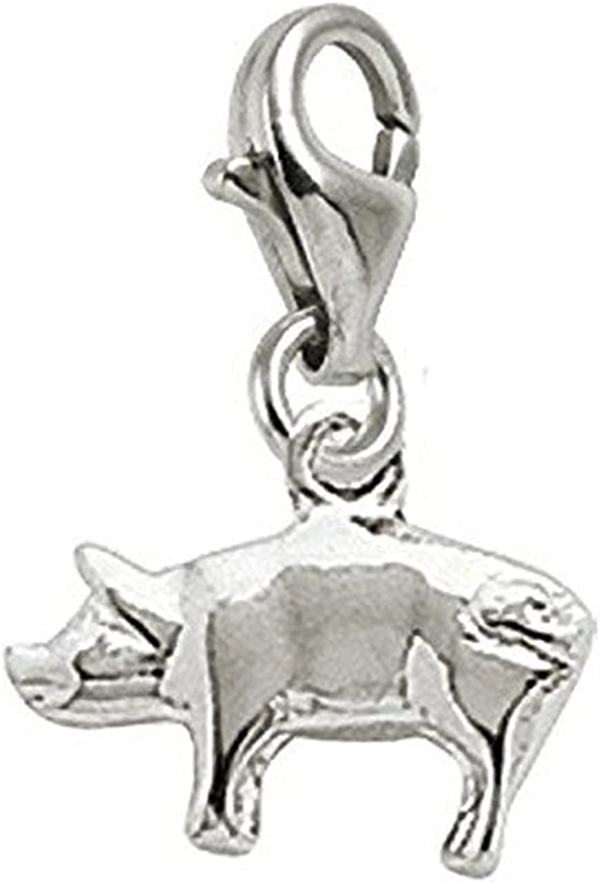Pig Charm With Lobster Claw...