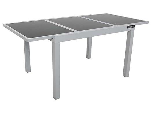 Habitat et Jardin - Table de Jardin Extensible Aluminium ...