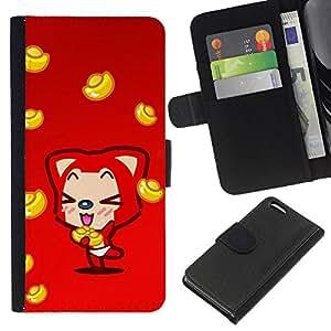 KingStore / Leather Etui en cuir / Apple Iphone 5C / Fox lindo