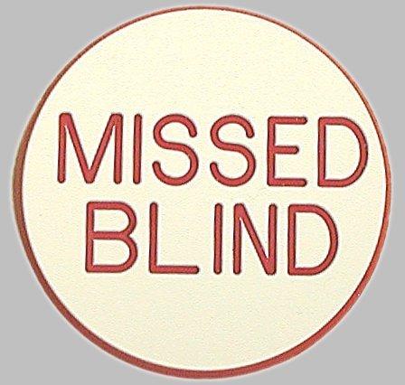 Missed Blind Poker Dealer Button - Casino Quality!