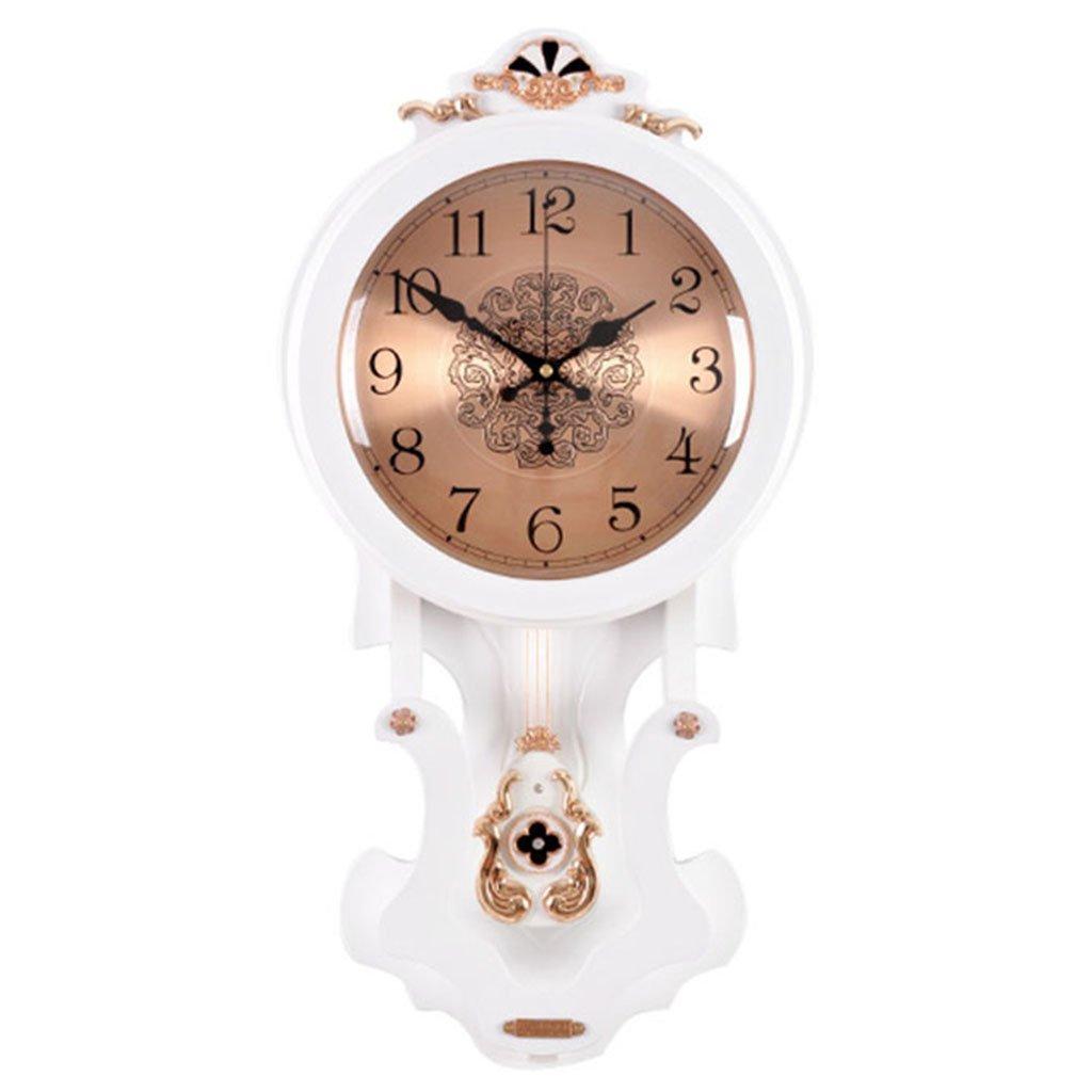 雰囲気創造的な傾向クォーツ時計時計の壁時計居間ヨーロッパのレトロなソリッドウッド中国のスタイルハンギングテーブル振り子 (色 : D) B07DG83JHN D D