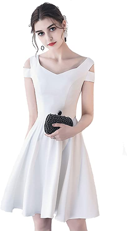 Women's Summer Cold Shouder A Line Dresses for Party Wedding